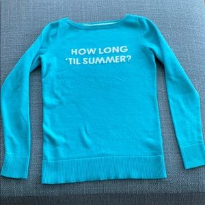 "Lilly Pulitzer ""How long till summer?"" Sweater"